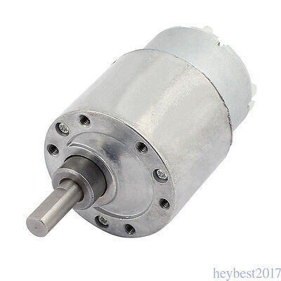 High Torque Gearbox Powerful motor Electric Motor 60RPM 30 N*cm 37MM DC 12V hb27