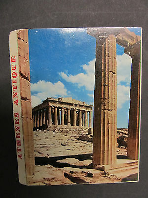 Vintage Foldout Colour Letter card/postcard, ATHENS ANTIQUE