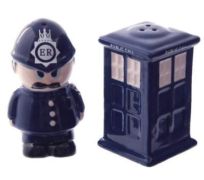 Collectable Novelty Salt & Pepper Set – Dr Who Police officer -Collect  FREEPOST