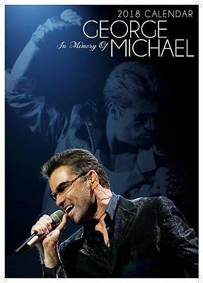 George Michael 2018 Large Uk Poster Siz Wall Calendar By Oc + Free Uk Postage !!