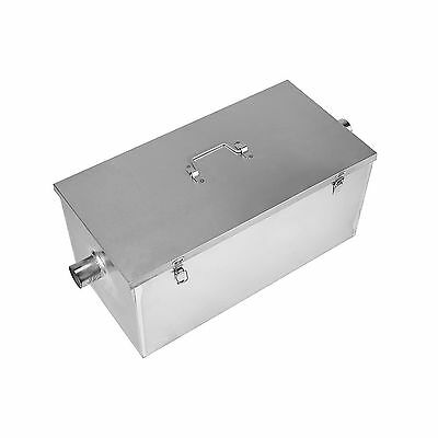 BEAMNOVA Commercial 25LB 13GPM Gallon Per Minute Grease Trap Stainless Steel NEW