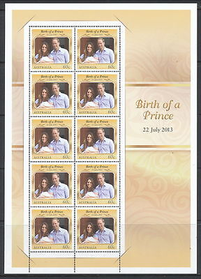 Australia 2013 Birth of a Prince (George) Stamp  Sheetlet  (MNH)