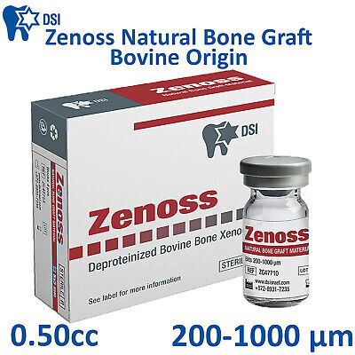 DSI Zenoss Dental Implant Natural Bone Graft Material Bovine Sterile 0.50cc CE