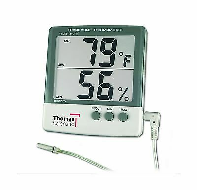 """Thomas 4184 ABS Plastic Traceable Jumbo Thermo-Hygrometer 1-1/8"""" High Display..."""