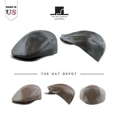 [Made In USA] Genuine Leather Gatsby Ivy Cap