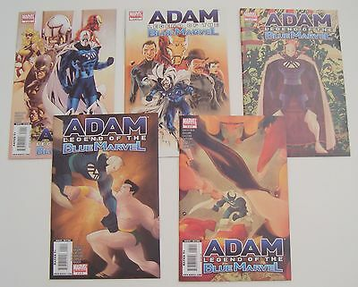 Adam Legend of The Blue Marvel 1 2 3 4 5 Lot Set! VF/NM! 2009