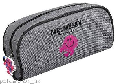 Pencil Case Mr Messy Men School  Mess Zip Tag Can Use As Make-Up Washbag