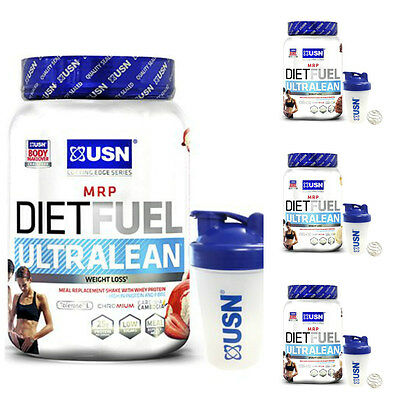 USN Diet Fuel Ultralean Weight Control Meal Replacement Shake Powder