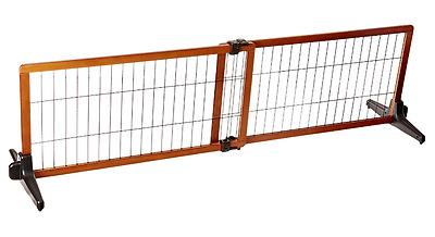 Extra Wide Pet Gate Freestanding Portable Wooden Easy Extendable Dog Barrier NEW