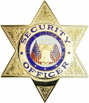 Tactical 365 Security Officer 6 Point Star Badge | Gold or Nickel