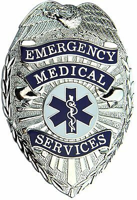Tactical 365 Security EMS Paramedic Shield Badge | Gold or Nickel