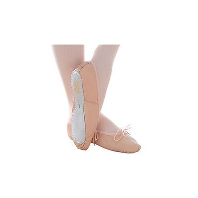 Pink Leather Ballet Shoes strap already sown in