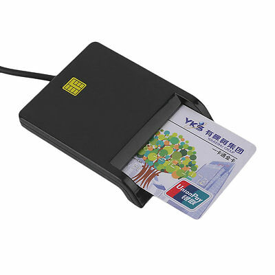 USB Smart Card Reader IC / ID Card Reader Plug And Play For PC Card Adapter AU