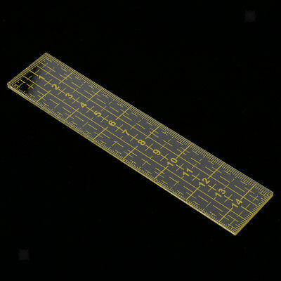 15cm Rectangle Acrylic Quilting Template Patchwork Tailor Ruler Tools Yellow