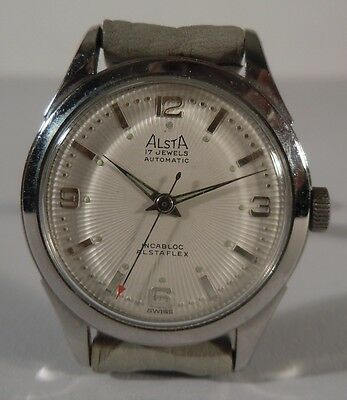 Armbanduhr Alsta 17 Jewels Swiss Made 1955 Automatic Alstaflex (ZU5971)