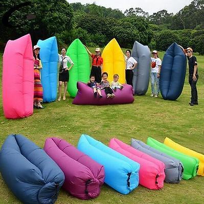 Sleeping Bag Sofa Bed Lazy Waterproof Lounger Chair Fast Inflatable Camping hot