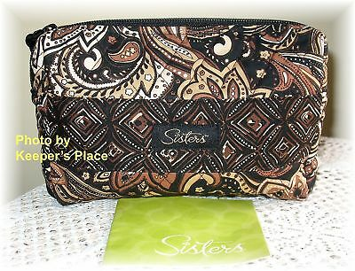 Longaberger Sisters Quilted TIMELESS KISS AND MAKEUP Zippered Bag New In Package