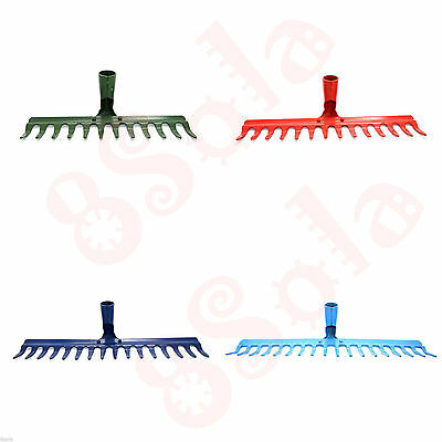 12/14/16/18 Tooth Heavy Duty Tempered Steel Metal Rake Head Lawn Leaves Garden