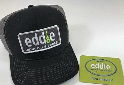 Eddie IPA hat Pearl Jam Vedder India Pale Ale Lager Seattle With Coaster New