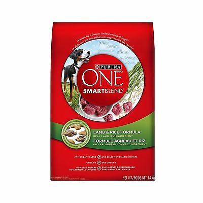 Purina ONE SmartBlend Lamb & Rice Formula Dog Food 14kg Bag