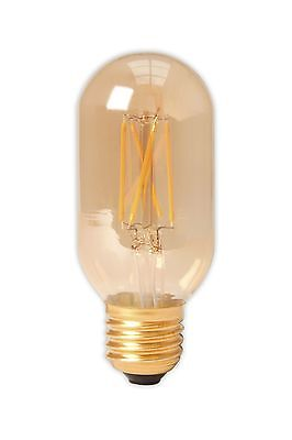 4W Calex  LED Tubular Bulb Gold ES 320Lm Dimmable  32mmx185mm 425492