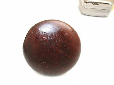 "Antique 19Th C Victorian Cherry Mahogany Knob Drawer Pull 2"" D 22 Wood Screw"