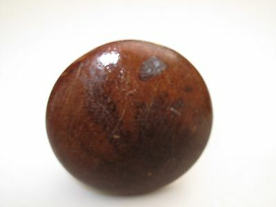 "Antique 19Th C Victorian Cherry Mahogany Wood Screw Knob Drawer Pull 2"" D 26"