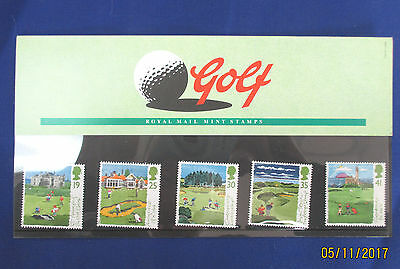 GOLF  Royal Mail Mint Stamps 1994 Issue in folder