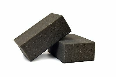 "2PC, Auto Detailing Magic Eraser Clay Foam Block, Medium Grade, 1""x3""x5"", Black"