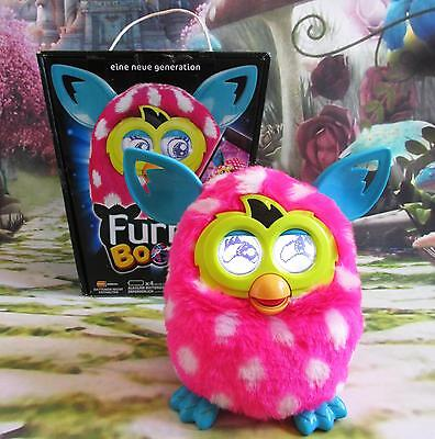 FURBY BOOM Polka Dot  English Version Can Connect & Sing With Other Furbys F163