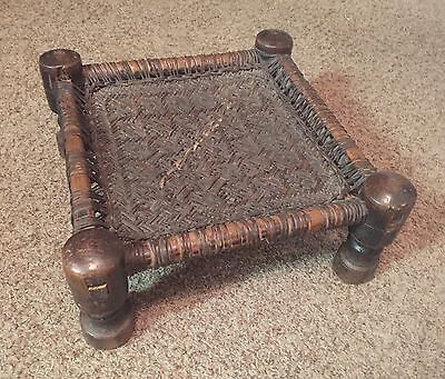 18TH CENTURY EARLY AMERICAN MILKING STOOL or OTTOMAN LOUISIANA FOUND