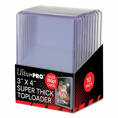 40 Ultra Pro 3x4 Super Thick Toploaders 260 pt Card Holders 4 packs New
