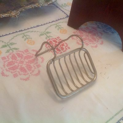 Vintage Antique Metal Wire Soap Dish Holder For Claw foot Tub