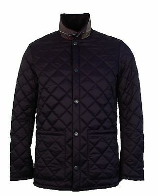 Brand new men's Barbour navy 'Pembroke' quilted coat