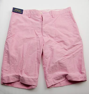 NWT Polo Ralph Lauren Men's Oxford Flat Front Casual Shorts Pants Size: 34 W