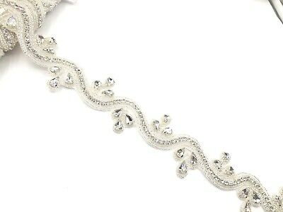 Gorgeous 11'' Beautiful Bridal Rhinestone Belt Bridal lace trim for Wedding dres