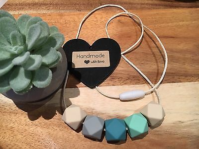 Silicone Sensory (was teething) Necklace for Mum Jewellery Beads Aus Cream gift