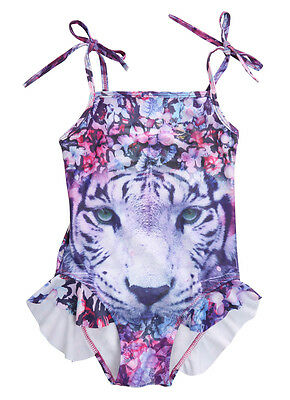Floral Tiger Kids Girls Tankini Swimwear Swimsuit Bathing Suit Clothes 3-10Y