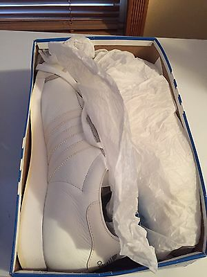 online store c07d7 c3131 Mens Adidas Samoa Originals Classic Sneakers New, White Leather Size 12