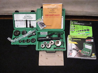 NEW Greenlee 7238SB & 7905SBSP Speed Punch and Used 7804 Hydraulic Pump Knockout