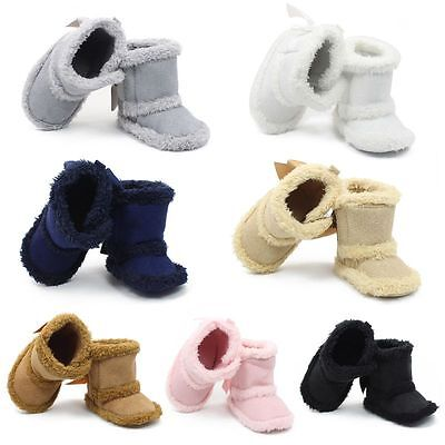 Baby Boy Girl Winter Warm Boots Toddler Kid Soft Sole Crib Cotton Boots Shoes