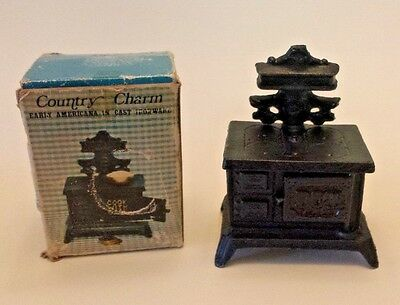 Vintage DOT Cook With Cash Cast Iron Stove Bank COUNTRY CHARM Early American NIB