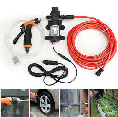 DC 12V 131PSI High Pressure Car Washer Cleaner Water Wash Pump Sprayer Kit Tool