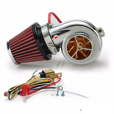 Electric Turbocharger With Air filter Fit Turbo 500 For Motorcycle Motor BIKE