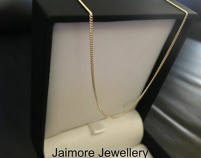 100% Real Solid 9K Aust Yellow Gold Necklace 1mm 50cm Curb CHAIN 1.73g