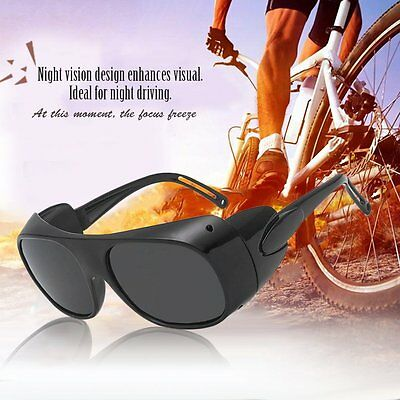 Glass Sunglasses Black Frame Grey Lens Eye Glasses Optical Classic Eyeglasses AU