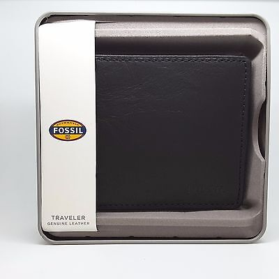 Fossil Wallet, JF84689040 Men's Business Genuine Leather RRP$69