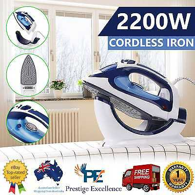 New 2200W Cordless Steam Iron Multifunction Docking Station Wireless Dry Ironing