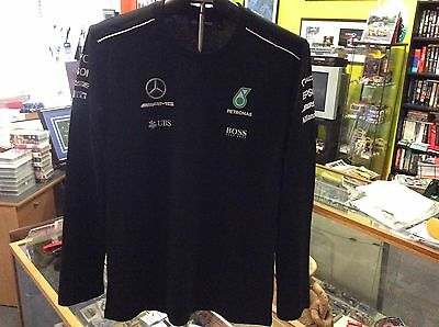 Mercedes 2017 Amg Petronas Formula One Replica Long Sleeve T-Shirt Size Large