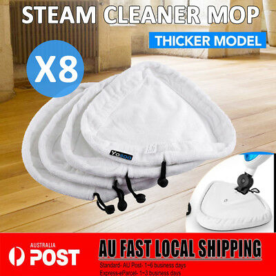 8x Steam Mop Pads Replacement Cleaner Washable Microfibre Cloth Floor Pad x5 H2O